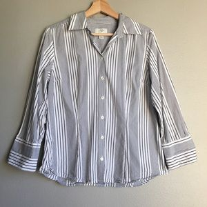 Ann Taylor LOFT Striped Button Down Shirt